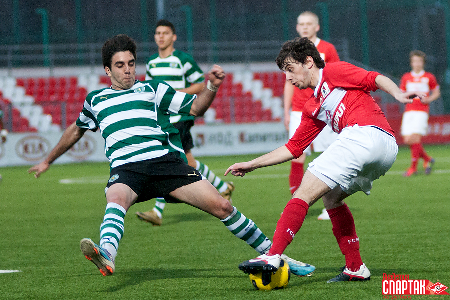 YOUNG SPARTAK CLUB MEMBERS HAVE ENDED IN A DRAW WITH LISBON-BASED SPORTING